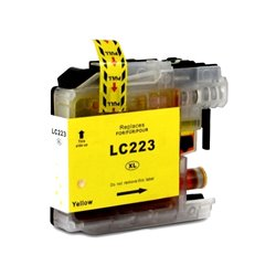 BROTHER LC223Y compatible - Cartouche d'encre jaune