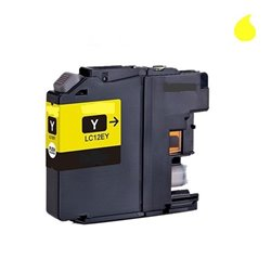 BROTHER LC12EY compatible - Cartouche d'encre jaune